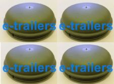 4 x 76mm GREY GREASE CAP FITS ALL IFOR WILLIAMS BRAKED TRAILERS 1996 TO DATE